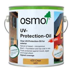 Osmo ® UV Protection Oil Extra 420 D Clear Satin 2.5 litres - For Exterior Wood