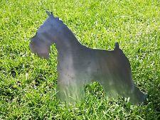 Miniature Schnauzer Dog Metal Yard Art