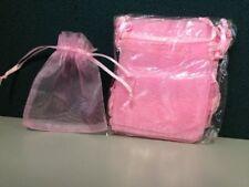 12pc PINK Mini Organza Silk Bags 10cmx7.5cm POSTAGE