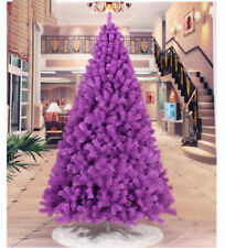 2 3 4 5 6 7 8 FT Purple Christmas Artificial Tree Undecorated Festival Holiday