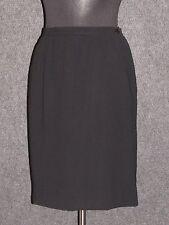 VALENTINO Miss V Black Wool Straight Skirt SZ 42 - 8 US