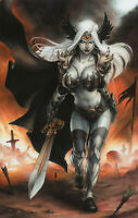 Lady Death Valkyrie Print, Art by Meghan Hetrick (11x17) - Comic Art
