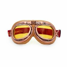 Retro Vintage Aviator Pilot Motorcycle Cruiser Scooter Bike Goggles For Harley