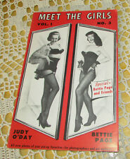 BETTIE PAGE & Judy O'Day MEET THE GIRLS Vintage Adult Magazine PinUp Favorites