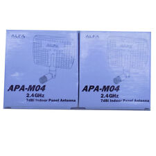 (Lot of 2) NEW Alfa APA-M04 2.4GHz 7dBi Gain Indoor Panel Antennas 50 Ohms