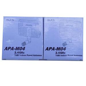 (Lot of 2) NEW Alfa APA-M04 2.4GHz 7dBi Gain Indoor Panel Antennas 50 Ohms