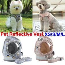 More details for puppy small dog cat harness and walking leads set pet supplies reflective vest