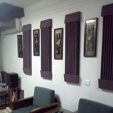 1 Set Acoustic Wedge Studio Soundproof Panel Foam Wall Tiles Black Coffee Sponge