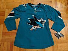 NWT ADIDAS SAN JOSE SHARKS BLANK NHL HOCKEY JERSEY CLIMALITE sz 50 52 54
