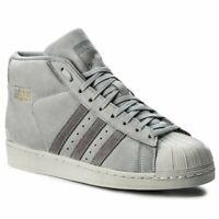 adidas Originals Mens Pro Model Mid Grey Trainers BZ0215