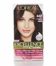 L'Oreal Excellence Creme - 4AR Velvet Brown (Dark Chocolate Brown) 1 Each