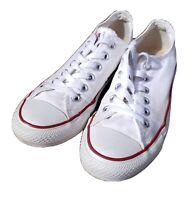 CONVERSE ALL STAR White Canvas Chuck Taylor's Men's Size 5 Women's Size 7