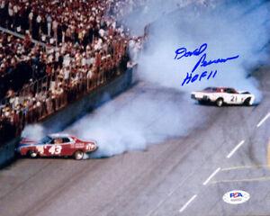 David Pearson SIGNED 8x10 Petty + HOF 11 NASCAR LEGEND PSA/DNA AUTOGRAPHED PHOTO
