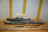 7 Pc Assembled War ship group  Models for restoration /Destoyers & Submarines