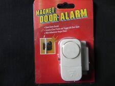Magnetic Door Alarm with Battery - Siren Alarm Sound - White