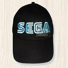 Sega Black Hat Vintage Computer Console Sonic Arcade Genesis Cap Embroidered