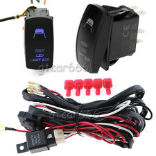 12V Auto Roof LED Light Bar Wiring Harness Relay Fuse ON-OFF Laser Rocker Switch