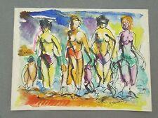 Raymond TRAMEAU technique mixte 1939 figuratif abstraction musicaliste P 1054