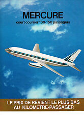 PUBLICITE ADVERTISING 064  1971  AVIONS MARCEL DASSAULT  LE MERCURE 2