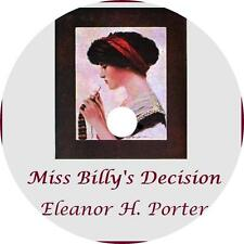 Miss Billy's Decision, Eleanor H. Porter Young Woman Audiobook on 1 MP3 CD