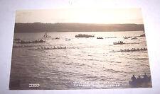 1926 YALE PRINCETON CORNELL UNIVERSITY ROWING TEAM RPPC REAL PHOTO POSTCARD