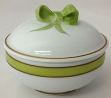 Vintage Chamart Limoges Frances Hand Painted Bow Tie Jewelry / Trinket Box