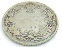 1936 Canada 25 Twenty Cent Quarter Canadian Circulated George V Coin J306