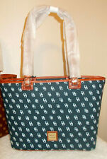 Dooney & Bourke Gretta NAVY & WHITE Small Leisure Shopper Bag