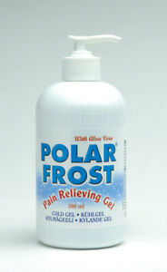Polarfrost Premium Kühlgel mit Aloe Vera, 500 ml Pumpflasche, Eisgel, Schmerzgel