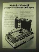 1970 Polaroid Model 350 Camera Ad - It's So Clever