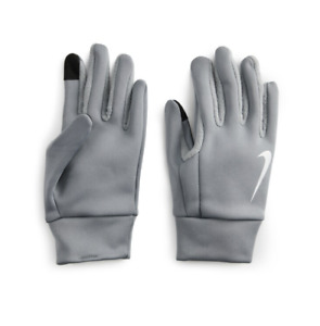 Nike Thermal Gloves Mens Large Authentic Therma Fit Warm Fabric Touchscreen Gray