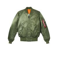 Mens Alpha Industries MA-1 Flight Bomber Jacket Sage Green