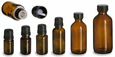 Amber Glass Bottles - 5 mL - 10 mL - 15 mL - 30 mL - 2 oz - 4 oz - With Caps!