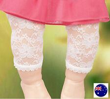 Girls Kids baby Princess Sweet White flower Lace Dress Leggings Pants 0-2years