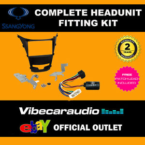 CTKSY04  Ssangyong Korrando 2013 Complete Double Din Stereo Fitting Kit