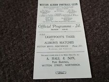 More details for witton albion ( northwich )  v  congleton town 1948/9 ~ october 23rd ' derby '