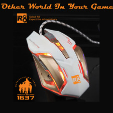 Genuine White Gaming Mouse  New Version USB Wired Led Optical Professional Mouse