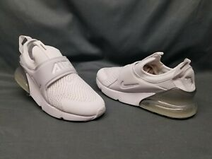 Nike Air Max 270 Extreme (PS) Athletic Sneakers White Silver Boys Size 1 NEW!