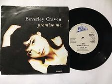 "BEVERLEY CRAVEN 7"" Vinyl Single 1990 PROMISE ME **Free UK Postage**"