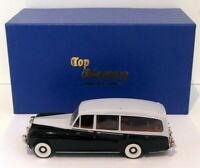 Top Marques 1/43 Scale - 1959 Rolls Royce Phantom V Hearse - Black/Grey