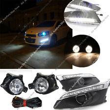 For Chevrolet Sonic Aveo 2011-2015 LED DRL Daytime Running lamp + Fog Lights Kit