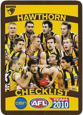 2010 TeamCoach HAWTHORN Check List