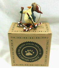 Boyds Carvers Choice Afton Penguin Cross Country Ski Ornament Candy Canes 1E Tbc