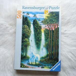 Ravensburger THE ENCHANTED WOODS 1999 500 Piece Puzzle UNICORNS Nature 36 x 49cm