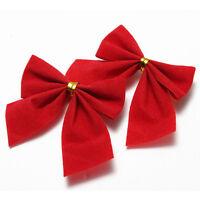 24X 6cm Golden Bows Ribbon Christmas Tree Party Gift Present Xmas Decoration