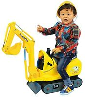 KOMATSU Micro shovel for kids Riding toy with Helmet PC01 Japan Fast Shipping