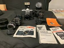 Pentax K1000 Camera W/ Tons Of Lens' & Extras! Must see! (B2)