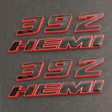 2pcs OEM 392 HEMI Emblem 392Hemi Badge 3D for Dodge Challenger F1 Red Frame