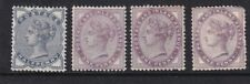 GB Stamp - QV Stamp Collection On Stock Card - 4 Stamps - MH