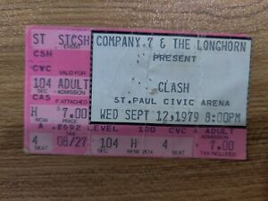 CHECK IT OUT! The Clash 1979 Ticket Stub! #8/166